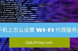 手机上怎么设置 Wi-Fi 代理服务器