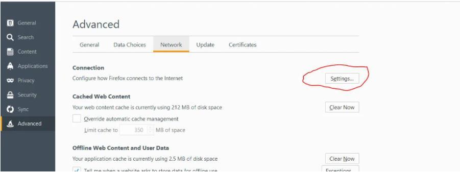 Firefox 代理设置1