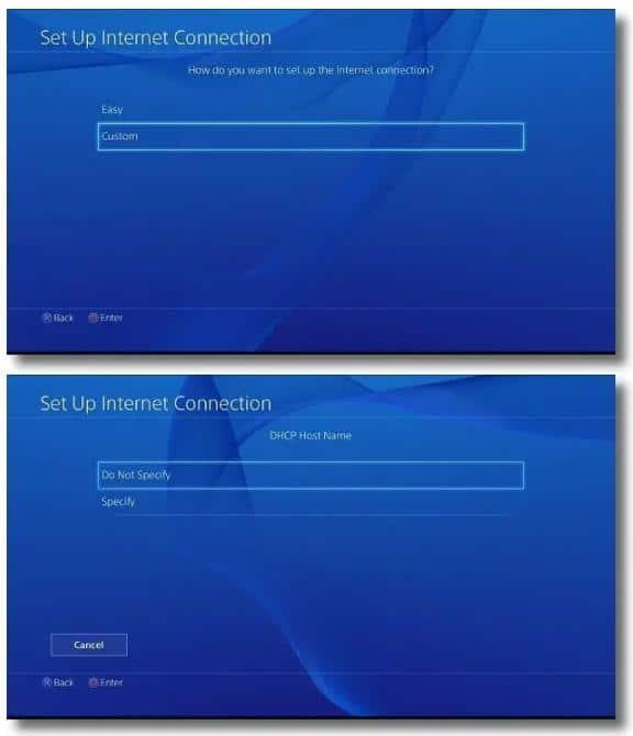 PS4 上设置代理服务器3