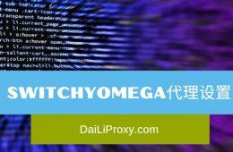 Switchyomega代理设置